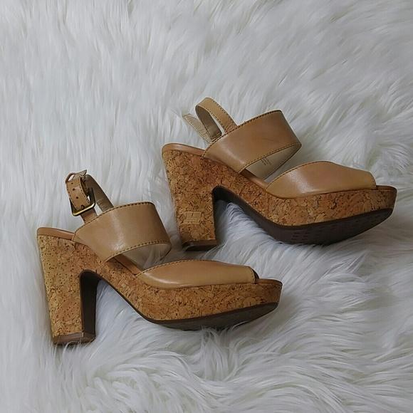 a46988a87bcb Adrienne Vittadini Shoes - NWOT ADRIENNE VITTADINI TAN CORK HEELS